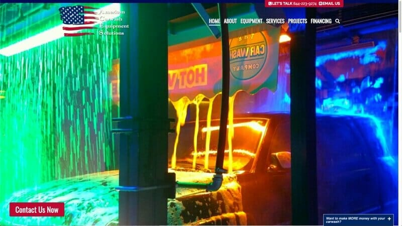 prowebsitecreators portfolio carwashaces website makeover