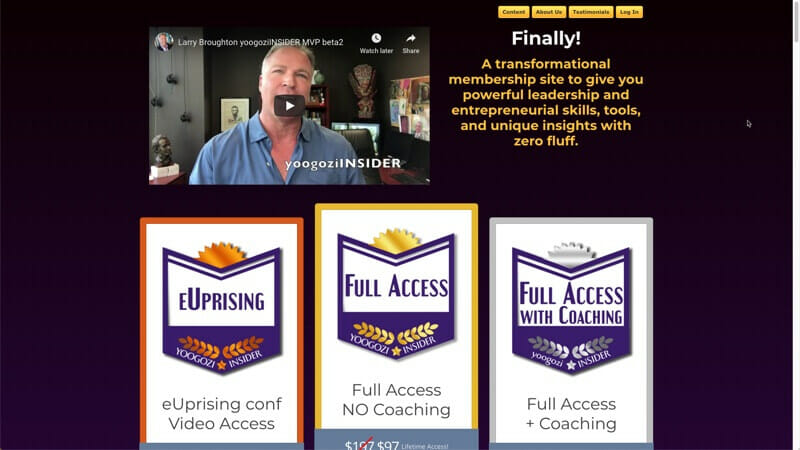 prowebsitecreators portfolio yoogoziinsider membership site
