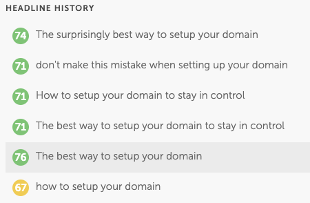 Headline History Domain Blog