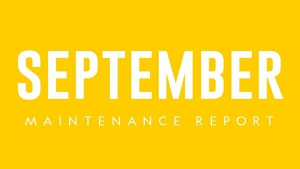 PWC MAINTENANCE sEPTEMBER