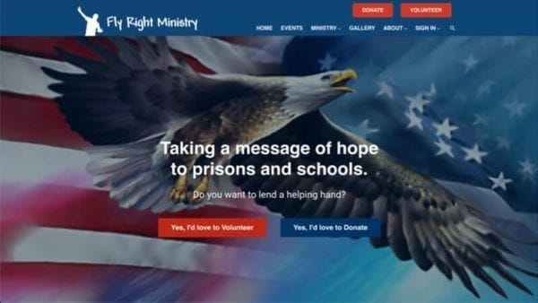 prowebsitecreators Fly Right Ministry website portfolio
