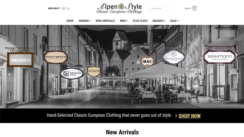 AlpenStyle Pro Website Creators portfolio