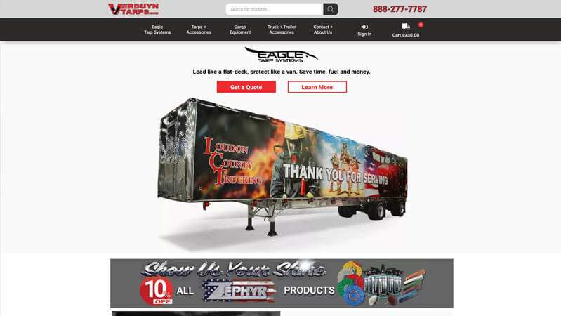 Verduyn Tarps Pro Website Creators portfolio