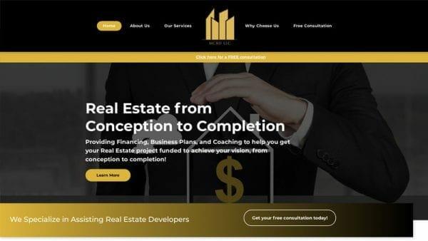 MCRIF website portfolio image